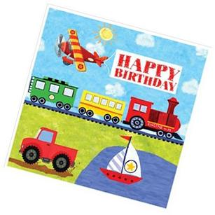 On The Go Happy Birthday Lunch Napkins
