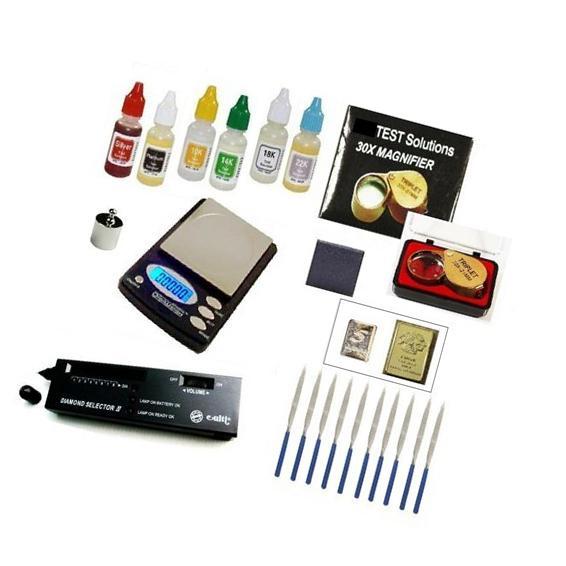 Gold Acid Testing Kit + Digital Diamond Tester + Digital
