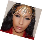 Gold Diamante Kundan Matha Patti Wedding Bridal Goddess