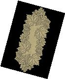 "Heritage Lace GOLDENROD LEAF 14"" x 36"" Table Runner  Fall,"