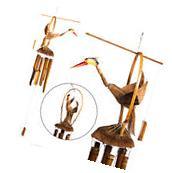 Large Gooney Bird Of Paradise Bamboo Wind Chime w/ Bamboo