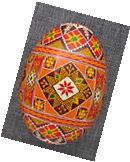 Goose Pysanka, Real Ukrainian Easter Egg, Pysanka, Geometric