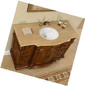 "48"" Gorgeous Travertine Top Ceramic Sink Bathroom Single"