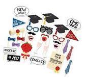 30PCS Graduation Grad Party Masks Photo Booth Props Mustache