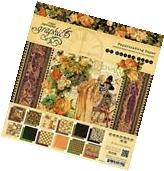 New Graphic 45 An Eerie Tale 8X8 Paper Pad **Retired