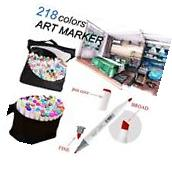 218 Color Graphic Marker Pen Touch Seven Art Sketch Twin Tip
