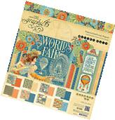 Graphic45 WORLD'S FAIR 8x8 PAPER PAD scrapbooking  SHEETS