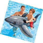 """Intex 68"""" x 48"""" Great Shark Swimming Pool Ride On Inflatable"""