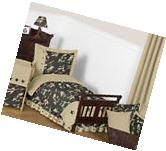 Green Brown Camo Army Boy Toddler Size Bedding For A Kid Bed