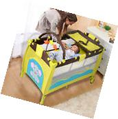 New Green Baby Crib Playpen Playard Pack Travel Infant