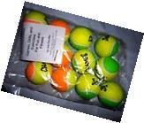 LOT 12 CHAMPS KIDS GREEN ORANGE 60 COURT LOW COMPRESSION