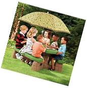 Outdoor Kids green table and bench Step2 Picnic Table with