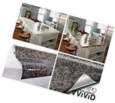 Grey Brown Marble Gloss Vinyl Film Wall Paper Adhesive Roll