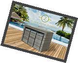 Luxury Living Furniture 7 Piece Grey PE Rattan Wicker