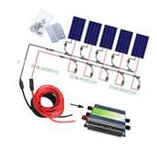 500W Off Grid Complete Kit: 5*100Watt  PV Solar Panel