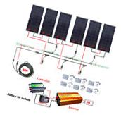 900W 24V off Grid Solar System Kit 6x160W Solar panel w/