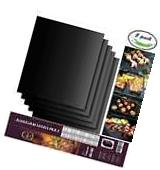 Aoocan Grill Mat Set of 5- 100% Non-stick BBQ Grill & Baking