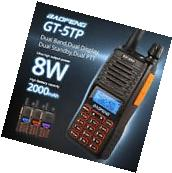 Baofeng GT-5TP 8W HP Dual PTT 136-174/400-520MHz Ham Two-way