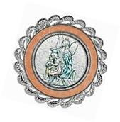 Guardian Angel Crib Medal Pink by Salerni  in Gift Box