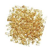 H1 300X Small Safety Pins Gold Color 18mm Brass Metal Sewing