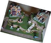 Christmas Village Platforms.Halloween Christmas Easter Village Display Platform Base H47