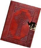 Handmade Celtic Cross Tooled Leather Blank Journal Diary