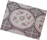 "72"" x 108""  Handmade Crochet Lace Tablecloth  COLOR BEIGE"