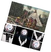 Large Handmade Dream Catcher Wolf With Feathers Home Hanging