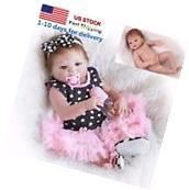 "23"" Handmade Silicone Full Body Baby Dolls Newborn Vinyl"