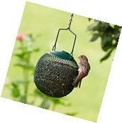 Hanging Bird Feeder Metal Ball Seed Outdoor Squirrel Proof