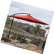 10' Hanging Umbrella Patio Terra Cotta UV Resistant Shade