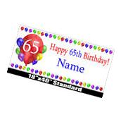 Happy 65th Birthday  Party Supplies BALLOON DESIGN