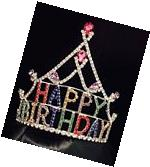 Happy Birthday Princess Queen Tiara Crown Headpiece Headwear