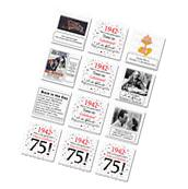 """Happy 75th Birthday  """"1942"""" Party Supplies FUN FACTS DRINK"""