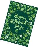 "Custom Decor Happy St. Patrick's Day Garden Flag 12"" x 18"