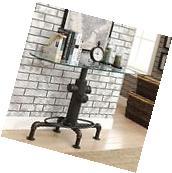 Furniture of America Haymill Industrial Glass Antique Black