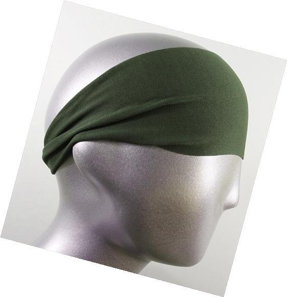 Headbands HB-2731 Moisture Wicking Army Green Solid Headband