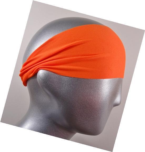 Headbands HB-2735 Moisture Wicking Neon Orange Solid