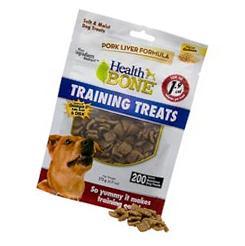 Omega Paw Health Bone Pork Liver Training Treats for Dogs, 6