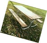 Heavy-duty aluminum picnic table frame with Stainless steel hardware
