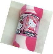 Hello Kitty PLUSH soft blanket throw design NEW microfiber