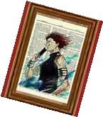 Hisoka Hunter X Hunter Anime Dictionary Art Print Poster