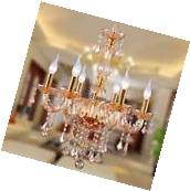 Homdox Modern 6 Light Crystal Chandelier Ceiling Lamp