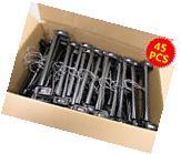 "Pack of 45 Home Black Plastic Pinch Clip Grip Hangers 12"""