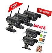 5X HD Home Security IP Camera Wifi Wired System Internet