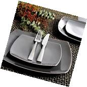 Gibson Home Soho Lounge Square 16-Piece Dinnerware Set