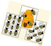 Honey Bumble Bee Hive Wall Decals Baby Girl Nursery Kids
