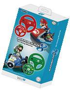 Hori - Mario Kart 8 Racing Wheel Set For Nintendo Wii U -