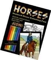 Horses Stained Glass Coloring Fun