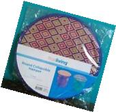 Household Essentials Pop-Up Round Collapsible Mesh Laundry
